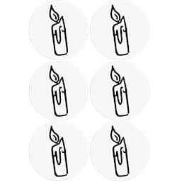 Cible Toilettes - La bougie - 6 stickers