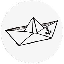 Cible Toilettes - Le petit navire - 6 stickers