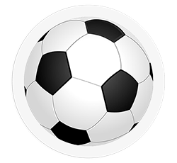 Cible Toilettes - Ballon de foot - 6 stickers