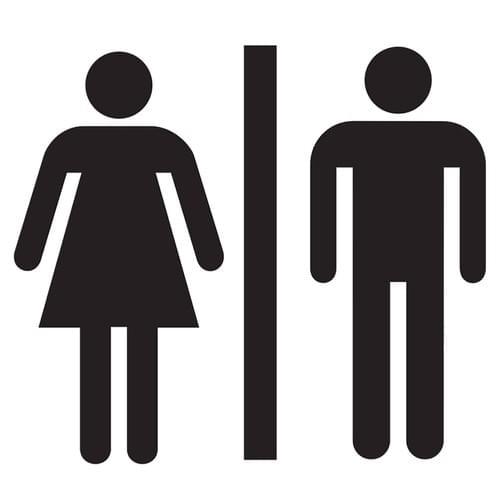 Stickers muraux porte wc – Femme et Homme – Fond transparent