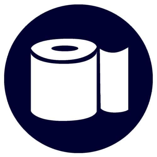 Stickers décoration salle de bain –  Papier WC