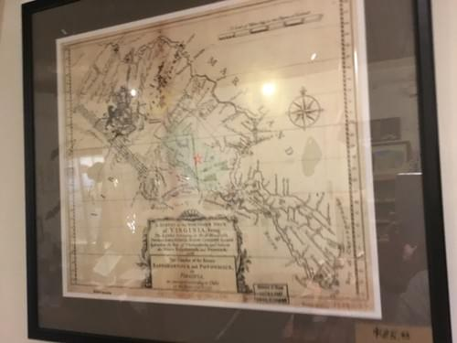 NEW-Map of Lord Fairfax Survey of Northern Neck Proprietary 1736-37