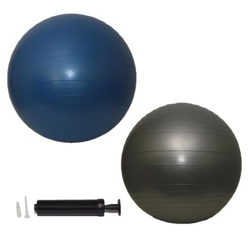 Swiss ball with pump - Yoga ball for pregnancy - Anti-Burst 75cm Silver