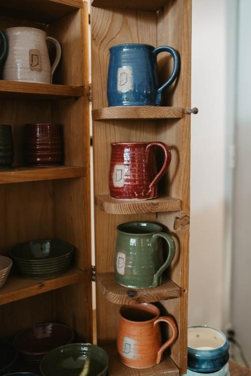 Indiana Pottery Mugs by Fatty Frog Pots