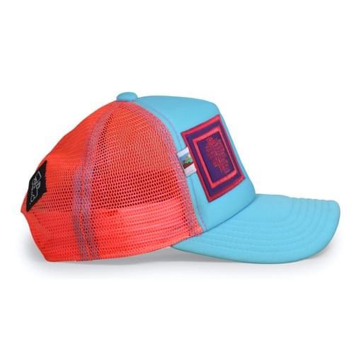 Kids Aqua Pink Towns Hat