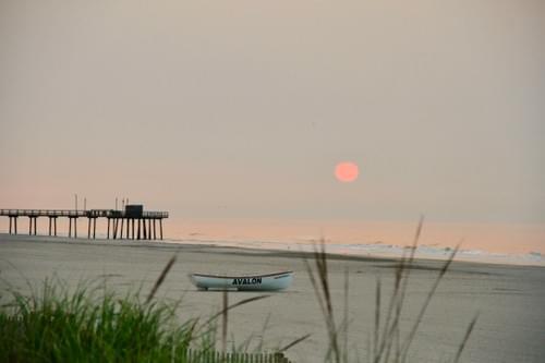 Avalon Boat Sunrise