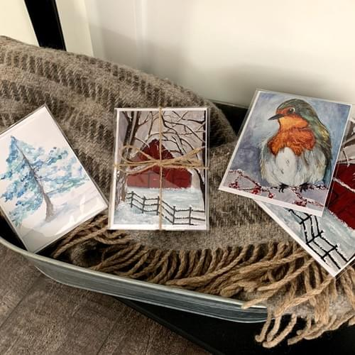 Winter Watercolor Collection - NOTE CARDS