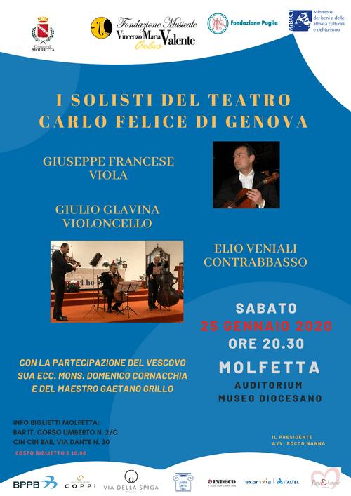 i solisti del teatro Carlo Felice di Genova