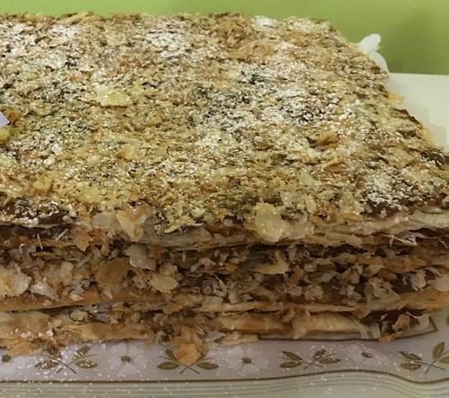 Torta Mil hojas manjar 20 cm2 - 10 raciones