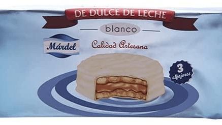 Alfajores Chocolate Blanco 3 Unidades