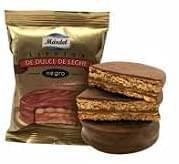 Alfajores de Dulce de Leche Cubiertos de Chocolate Negro - Caja de 12 Unidades