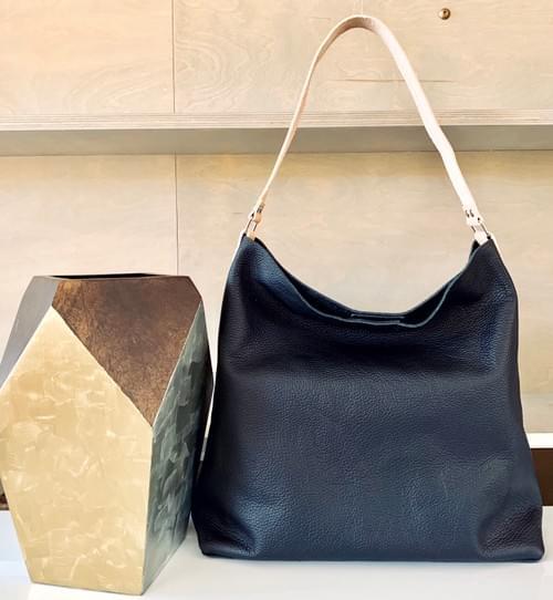 Slouchy Leather Hobo Handbag