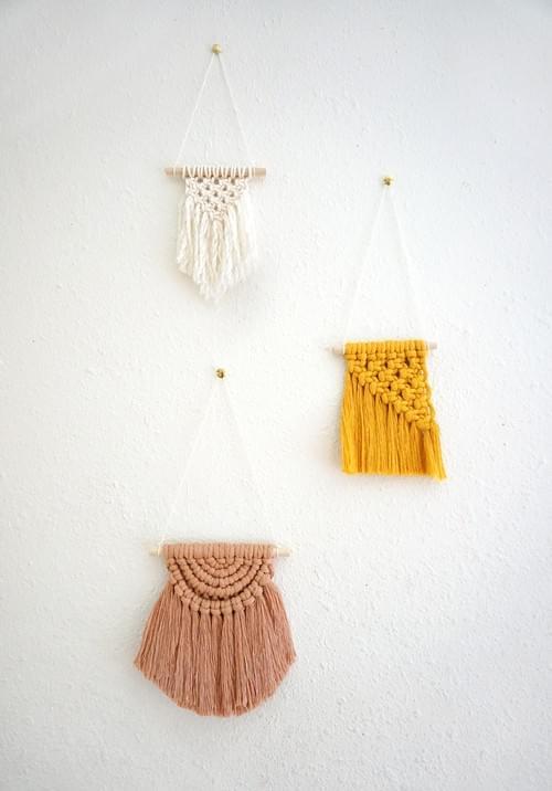Mini Macramé Trio - Online November 20