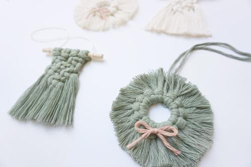 Mini Macramé Holiday Ornaments - Dec 6 Online