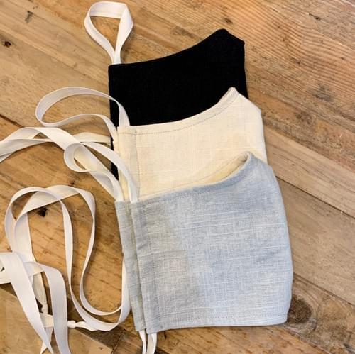Hopsack Linen Face Masks - Washable/Reusable