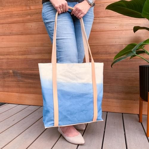 Hand-dyed Canvas Patio Tote