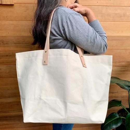 Large Canvas Shopper