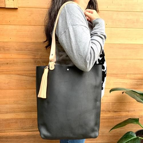 The Kezia Uptown Leather Tote