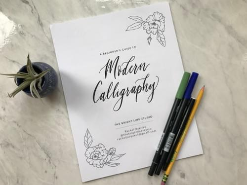 Faux Modern Calligraphy Online - June 20
