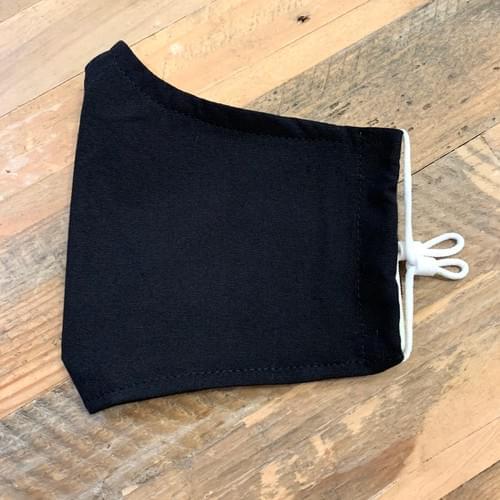 Classic Black Cotton Face Mask - Washable/Reusable