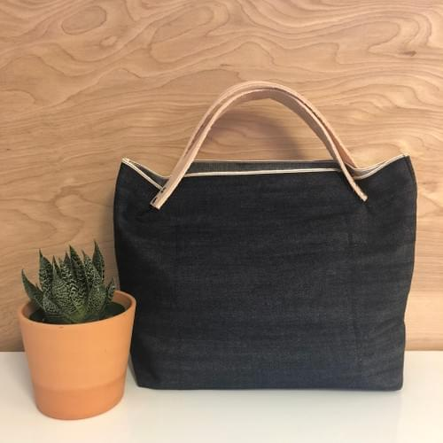 Selvedge Denim Mini Market Tote