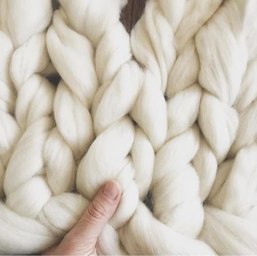 Chunky Knit Wool Blanket - ONLINE - Nov. 14