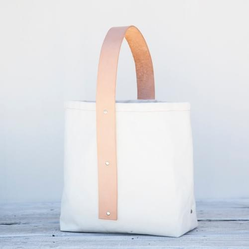 Canvas Vertical Strap Tote