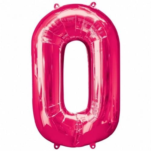 34 Inch Pink Foil Number's