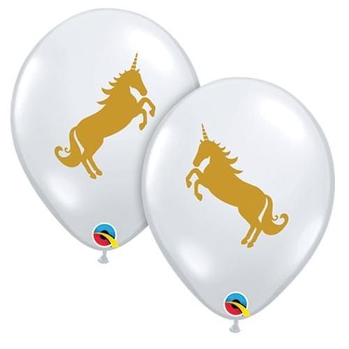 Clear latex unicorn balloon