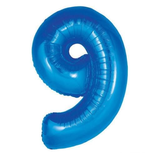 Large 34 Inch Blue Foil Number's