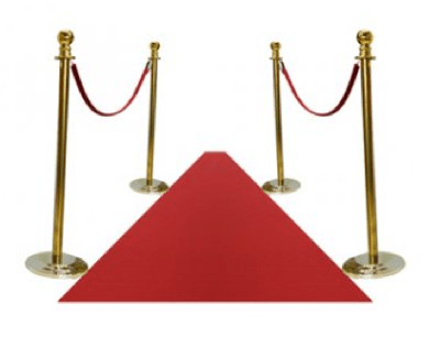 Gold Poles And Red Ropes
