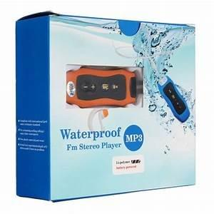 Sports Mp3 Waterproof IPX8 Music Player 4GB Storage Clip Mp3 Player FM Swimming Diving +