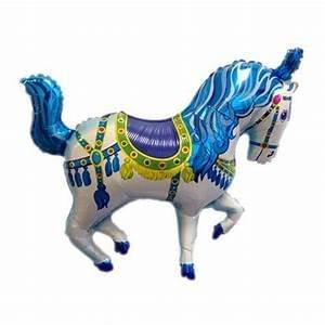 Blue Foil Horse balloon