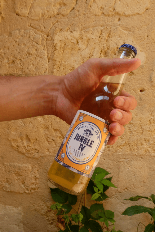 "Soda ""Jungle TV"" (thé vert, cardamome, sésame) 33cl"