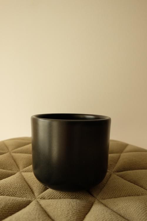 Tasse à thé noire