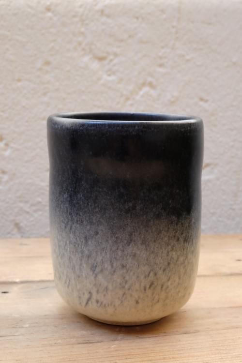Mug à thé en grès bleu/beige
