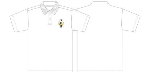 心氣塾 刺繍ポロシャツ/ Shinkijuku White Polo