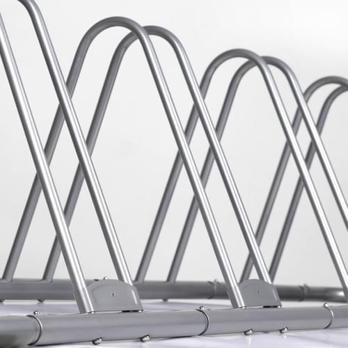 IKURAM 1-5 Bike Bicycle Floor Parking Rack Storage Stand Adjustable Bike Frame