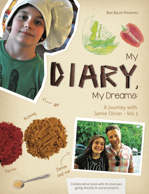 """""""My Diary, My Dreams - A Journey With Jamie Oliver"""", vol. 1 - Magia de Ler Publisher"""