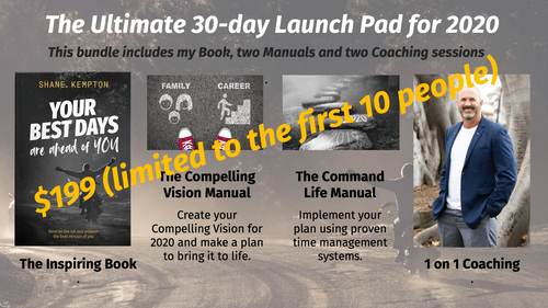 PACKAGE: (Book, 2 Manuals, 2 Coaching Session) Create, Plan & Implement Your Compelling Vision