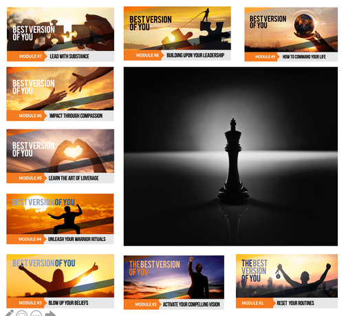 COURSE: (9 Manuals, 18 Videos). Self Paced, Best Version of You Coaching Program