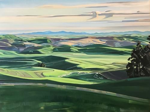 The Palouse from Kamiak Butte - Original Oil Painting, Paper and Canvas Giclee Prints Available