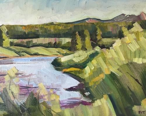 The Salmon River at Decker Flats - Original Oil Painting, Paper and Canvas Giclee Prints Available