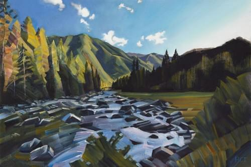 The Lochsa River - Mile 128 - Paper and Canvas Giclee Prints Available