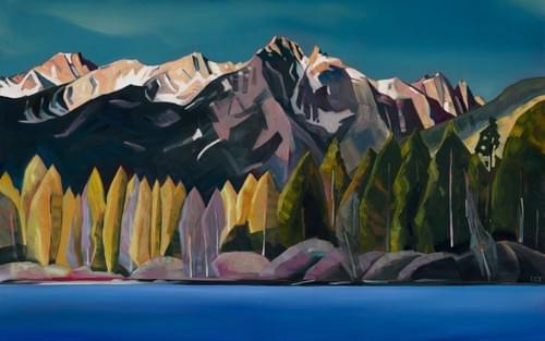 Redfish Lake, July 25th 2014 - Paper and Canvas Giclee Prints Available