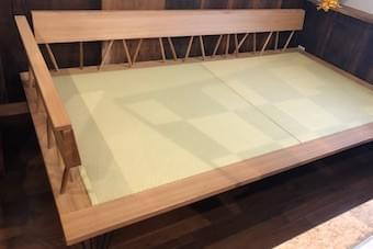 《受注生産品》suwareソファ&ベッド(木製片肘タイプ)