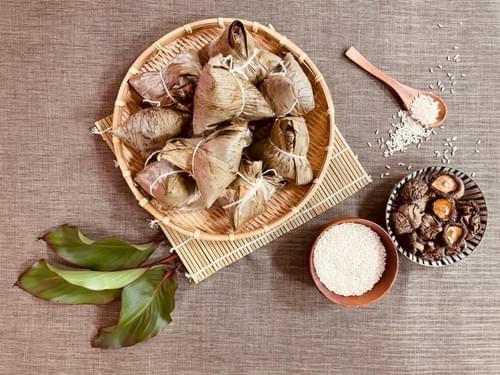 蓮心素粽、肉粽