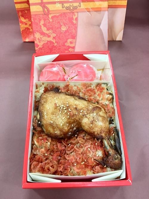 彌月油飯-雞腿+紅蛋(盒)