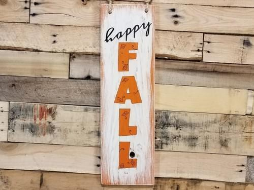 Happy Fall-Vertical Sign
