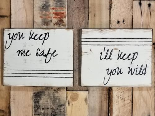 Safe/Wild - Set of 2 Signs